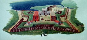 fort frederica drawing