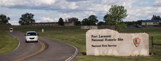 Fort Laramie NHS entrance.