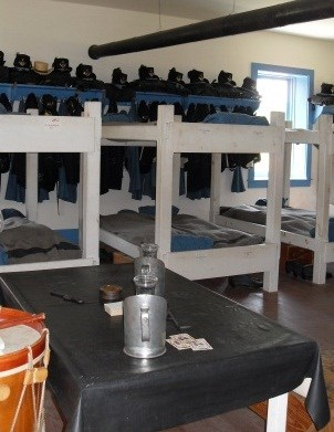 Bunkbeds in the barracks