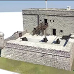 Computer rendering of Ft Matanzas