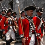 Re-enactors portray British soldiers at the Castillo de San Marcos