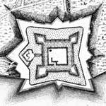 1700s view of the star-shaped design of the Castillo de San Marcos