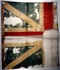 The British flag captured by Gálvez in the Battle of Pensacola