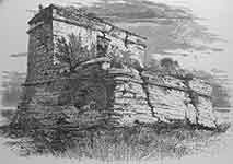 Henry Fenn's drawing of Fort Matanzas in Picturesque America.