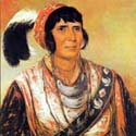 The Seminole Leader, Osceola, as painted by George Catlin.