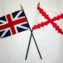 The British and Spanish flags of the 18th century.