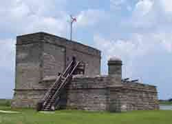 Fort Matanzas from the west