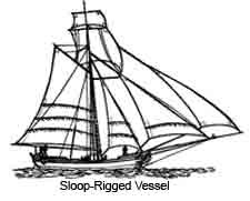 A Sloop-Rigged Vessel