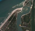 Matanzas inlet aerial view