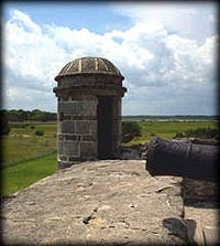 The sentry box or garita is an architectural feature of Spanish forts throughout the Caribbean.