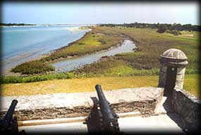 Cannon fire from Fort Matanzas could easily reach the inlet.