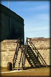 Originally, a wooden ladder led into the fort.