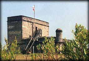 Fort Matanzas sits at the edge of the salt marsh.