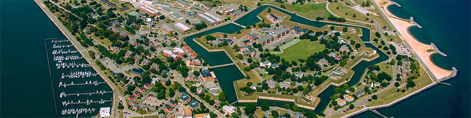 Aerial View of Fort Monroe National Monument