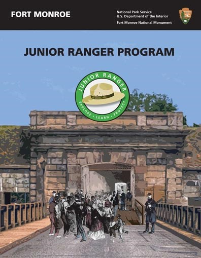 Cover image of the Fort Monroe National Monument Junior Ranger activity booklet.