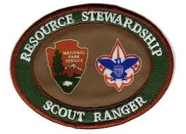 Scout Ranger Patch with the National Park Service Arrowhead logo and the BSA logo