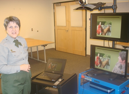Park Ranger and video equipment