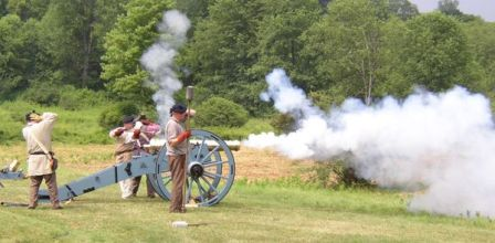 First Allies Artillery crew at Fort Necessity