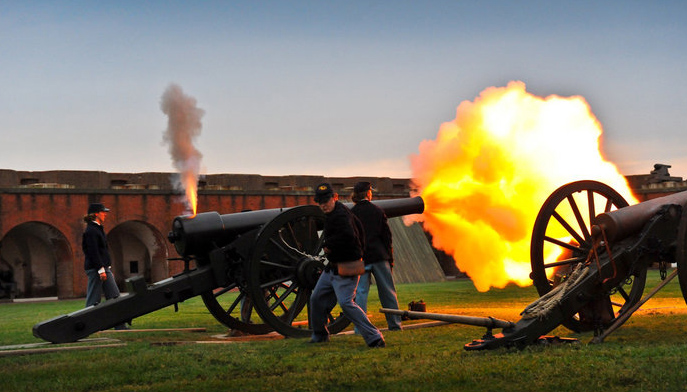 Cannon Firing at Fort Pulaski National Monument