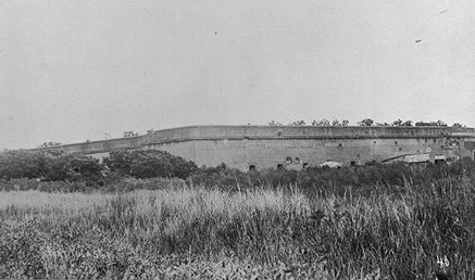 Exterior view of Fort Pulaski , ca. 1900