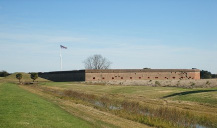 Exterior of the fort (south wall)