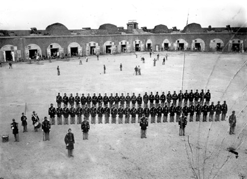 One of the earliest known photographs of a baseball game was taken inside Fort Pulaski.