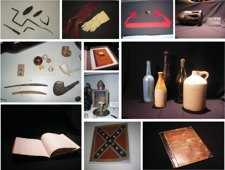 Bottles, diaries, artillery pieces, and flags are just a few of the collections held by Fort Pulaski.