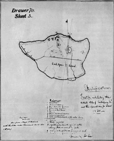 Robert E. Lee's drawing of Cockspur Island