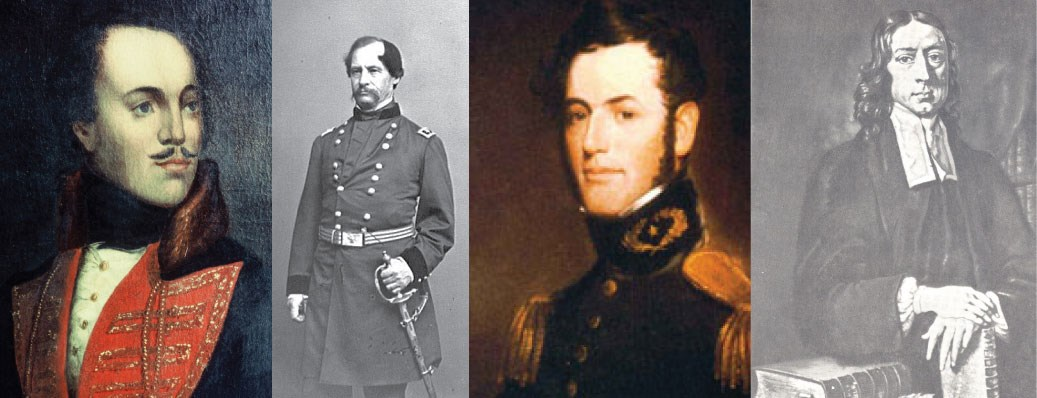 Casimir Pulaski, David Hunter, Robert E. Lee, John Wesley