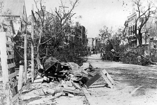 Beaufort, South Carolina after the 1893 storm. Courtesy of Beaufort County Library.