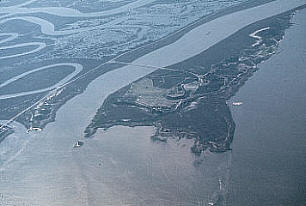 Cockspur and McQueens Island and marshes.