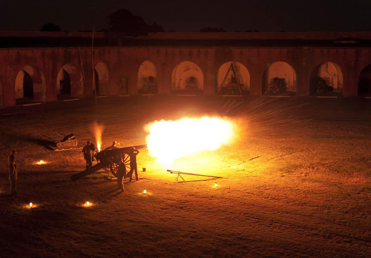 Night Cannon Firing