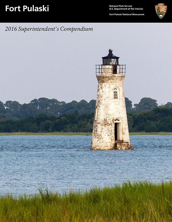 The Cockspur Island Lighthouse graces the 2016 Superintendent's Compendium