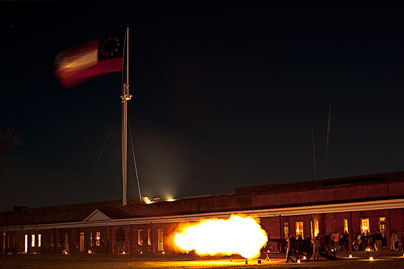Cannon Firing during the Nog Party