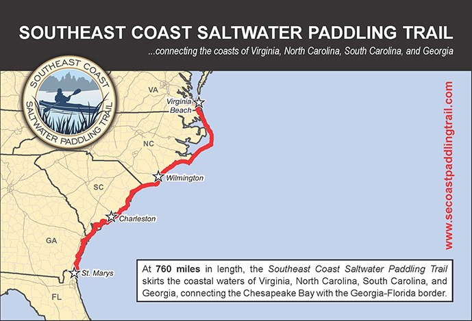 Southeast Coast Saltwater Paddling Trail Map
