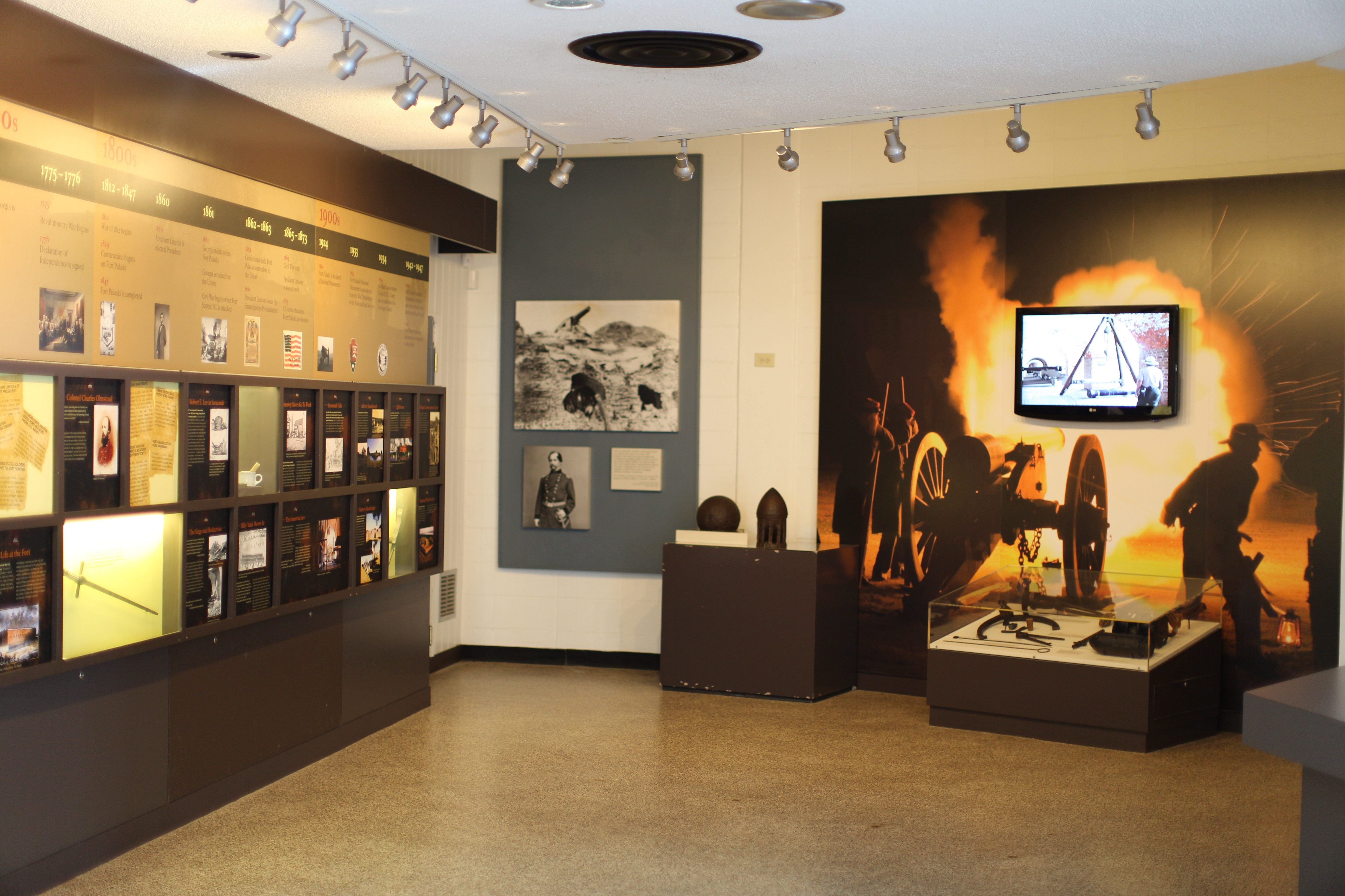 Fort Pulaski Visitor Center Exhibits