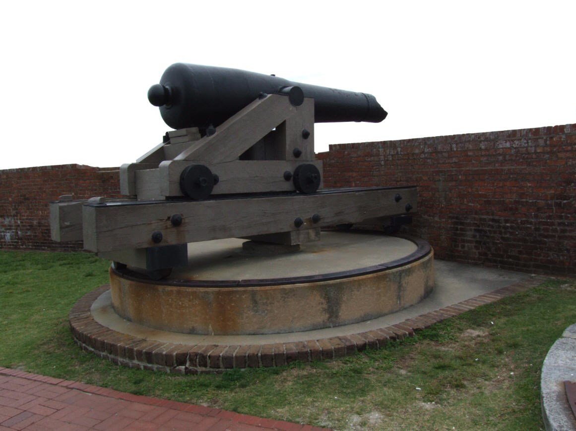 Historic Columbiad Gun at Fort Pulaski