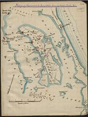 Map of the Battle of Roanoke Island.
