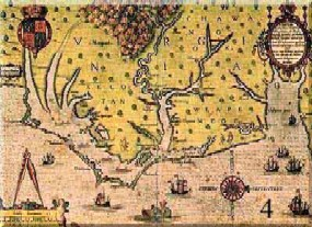 John White's map of Roanoke Island