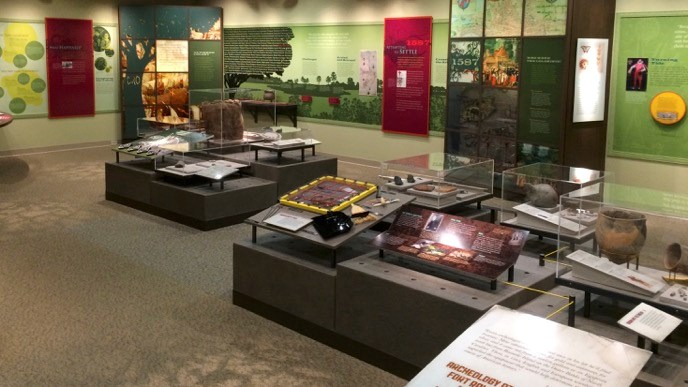 Exhibits in the Fort Raleigh Visitor Center