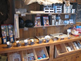Souvenir items available for sale at Fort Scott