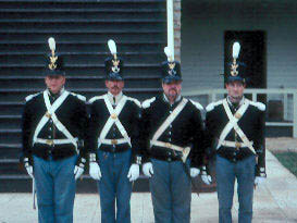 Infantry soldiers in dress uniform