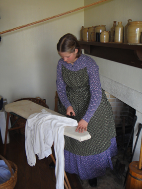 Laundress Ironing Clothes