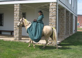 Woman Riding Sidesaddle