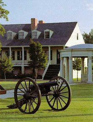Cannon on Parade Ground at Fort Scott
