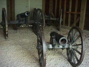 Artillery in Gun Shed at Fort Scott
