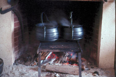 Cooking over an open hearth