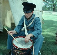 Soldier playing drums