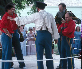 Reenactment of boxing event