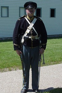 Dragoon soldier with accoutrements